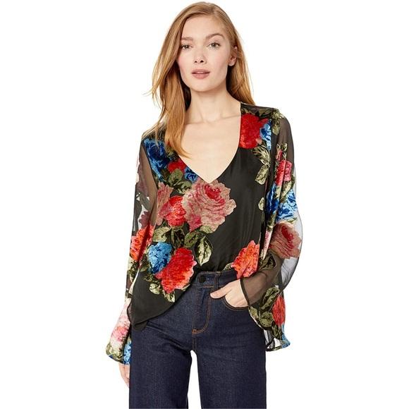 Show me your mumu Floral Velvet hobo Top size M